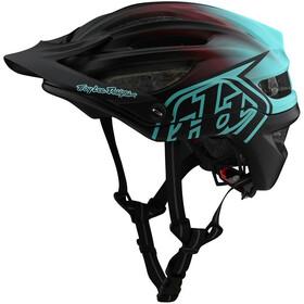 Troy Lee Designs A2 MIPS Pyöräilykypärä, stain'd black/turquoise